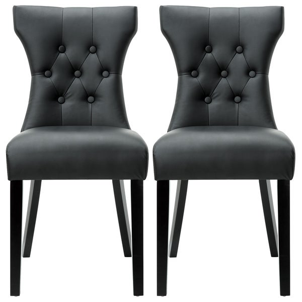 Modway Silhouette Modern Black Dining Chairs (Set of 2)