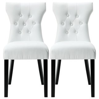 Maison Rouge Erin Modern White Dining Chairs (Set Of 2)
