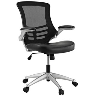 Modway Attainment Black Mesh Back and Leatherette Seat Office Chair (Option: Orange)