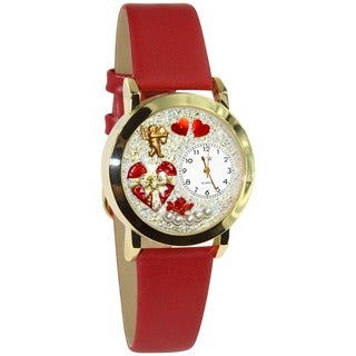 Valentine's Day Women's Red Leather Watch
