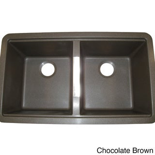 Ukinox Granite 50/50 Double-bowl Undermount Sink