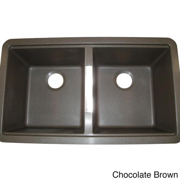 Ukinox Granite 50/50 Double-bowl Undermount Sink