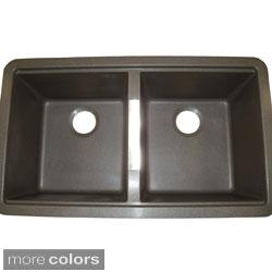 Shop Ukinox Granite 50 50 Double Bowl Undermount Sink