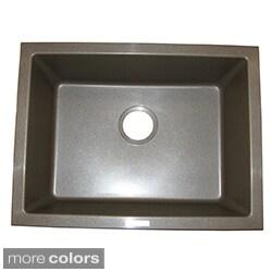 Shop Ukinox Granite Single Bowl Dualmount Sink Free