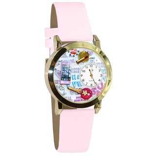 Teen Girl Pink Leather Watch