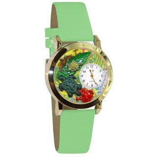 Turtles Green Leather Watch