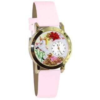 Unicorn Pink Leather Watch (Option: Gold)