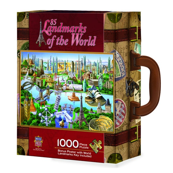 Shop 85 Landmarks Of The World 1000 Piece Puzzle Free