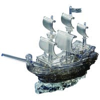 3D Black Pirate Ship Crystal 101-piece Puzzle