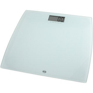 American Weigh Scales White Digital Glass Scale