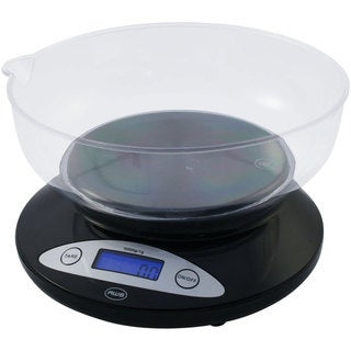 Black Bowl Kitchen Scale