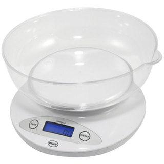 White Bowl Kitchen Scale