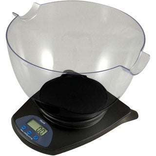 American Weigh Black Digital Scale with Bowl