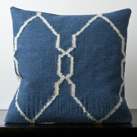 Gabe Blue Moroccan Trellis 22-inch Decorative Pillow