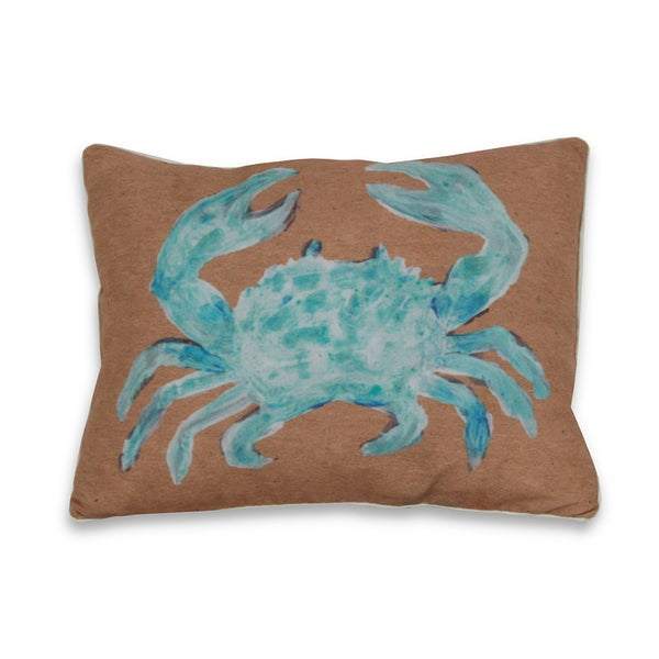 Water Color Crab 16 x 20-inch Decorative Throw Pillow
