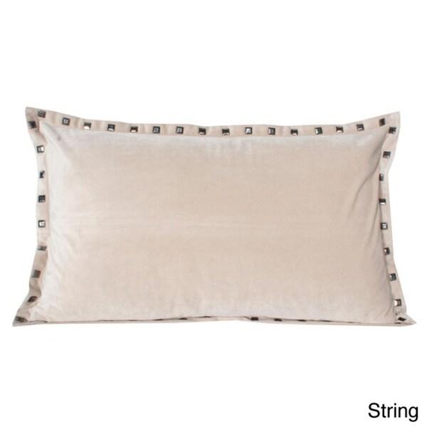 Thro Payton Velvet Studded 20-inch Decorative Pillow