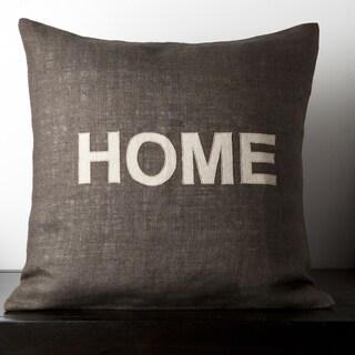 Mia Dark Brown Novelty 18-inch Decorative Down Pillow