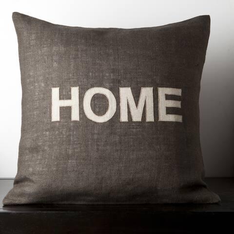 Mia Dark Brown Novelty 22-inch Decorative Pillow