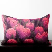 Aubrey Pink Hibiscus Flower 20-inch Decorative Pillow