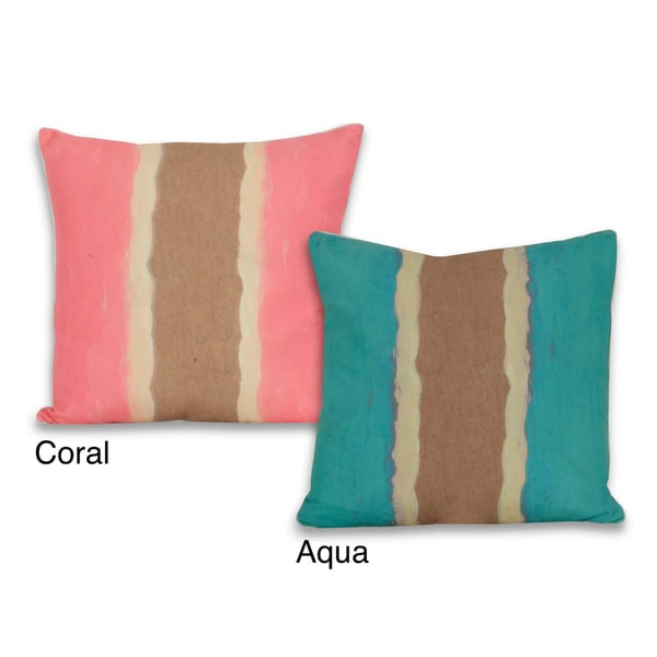 Water Color Sea Shore 20 x 20-inch Pillow