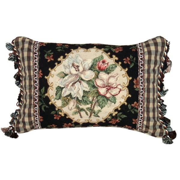 Magnolia Petit Point Decorative Throw Pillow Free
