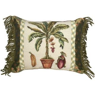 Banana Tree Needlepoint Decorative Throw Pillow