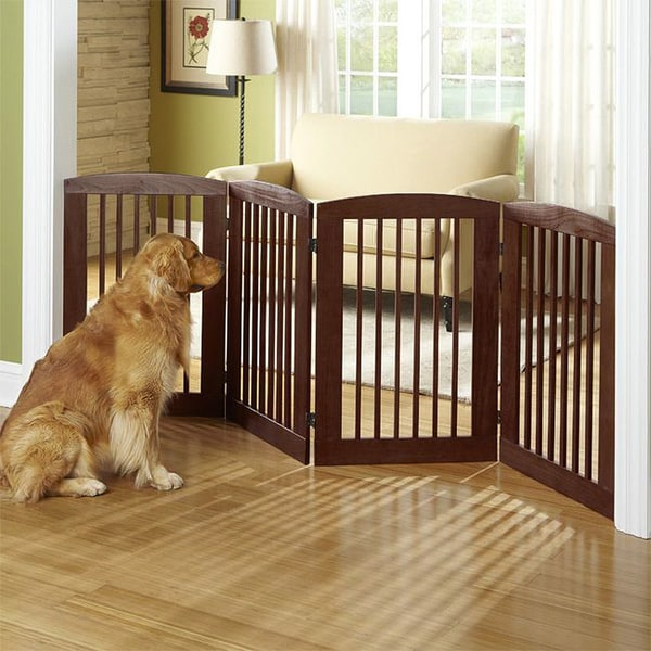 Dynamic Accents 36 Inch High Wood Panel Pet Gate Free