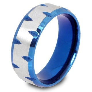 Color-plated Stainless Steel Matte Center Facet-cut Edge Ring