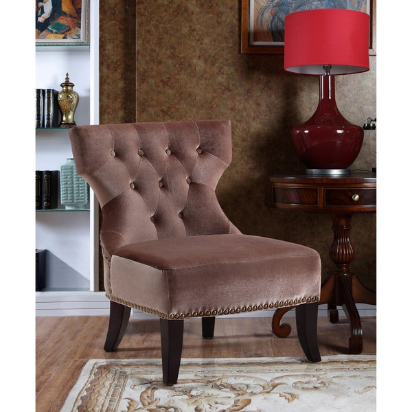 WYNDENHALL Waterloo Taupe Tufted Accent Chair