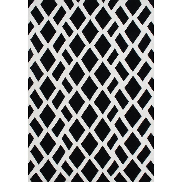 Alliyah Hand-made Tufted Black New Zealand Blend Wool Rug (3' x 5')