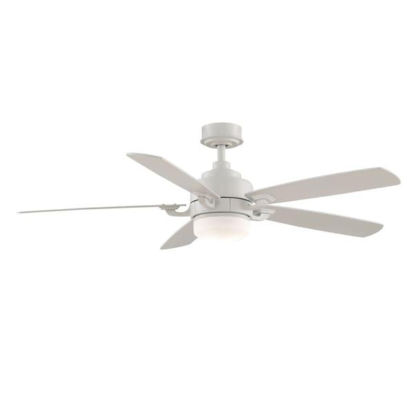 Fanimation Benito 52-inch Matte White 1-light Ceiling Fan