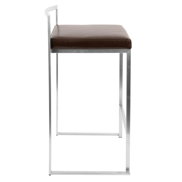 Fuji Contemporary Stainless Steel Stackable Counter Stool (Set of 2)