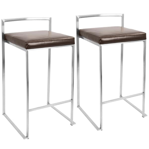Fuji Stackable Counter Stool (Set of 2)  sc 1 st  Overstock.com & Fuji Stackable Counter Stool (Set of 2) - Free Shipping Today ... islam-shia.org
