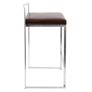 fuji stackable counter stool set of 2 option white