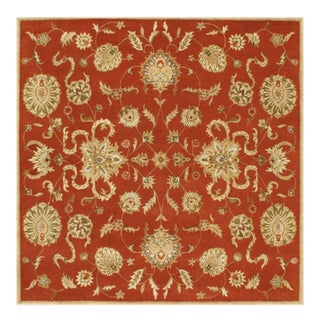 Alliyah Handmade Rust New Zealand Blend Wool Rug (8' Square)