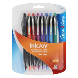 Papermate InkJoy Assorted Medium Ballpoint Pens (Pack of 8)