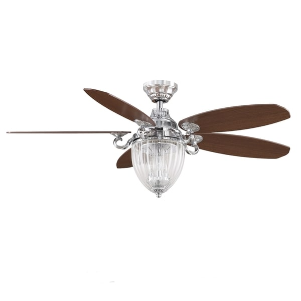 Fanimation Stonehill 52 Inch Chrome 3 Light Ceiling Fan