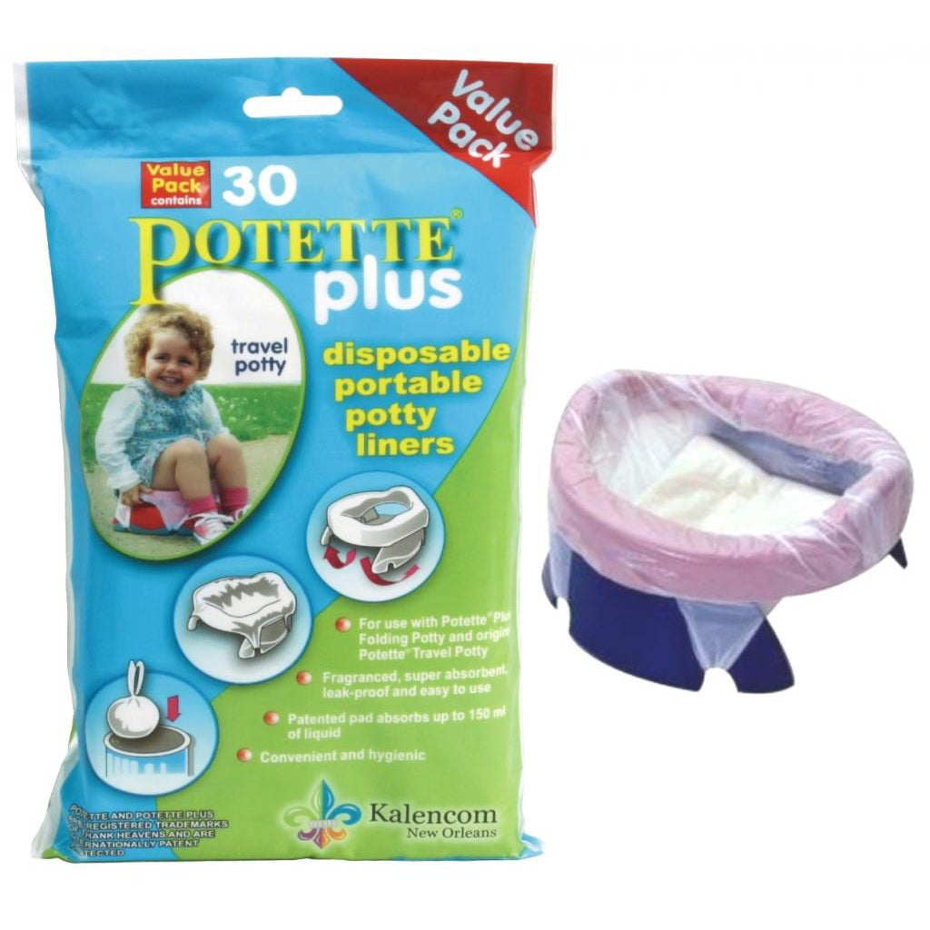 Kalencom Potette Plus Liners (Pack of 30) (30 Liners), White