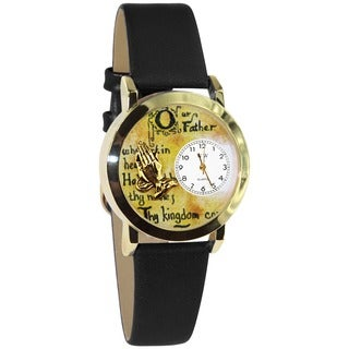 Lord's Prayer Black Leather Watch