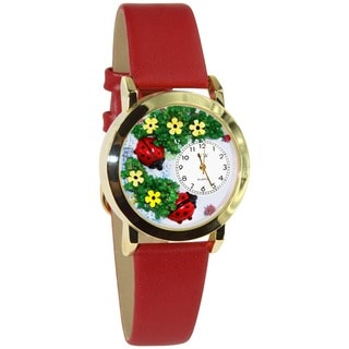 Whimsical Ladybug Red Leather Watch
