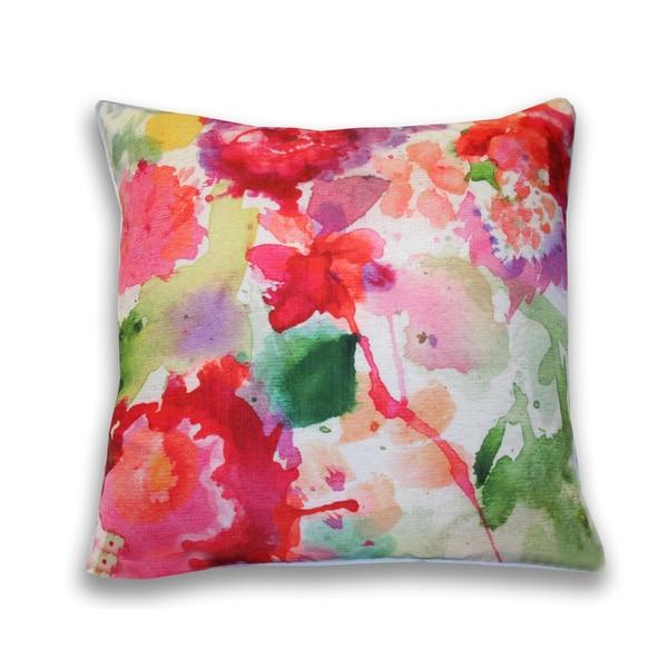 Carla Floral 20x20-inch Throw Pillow