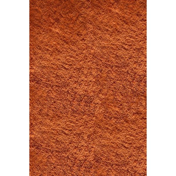momeni luster shag tangerine hand-tufted shag rug (2' x 3') - free