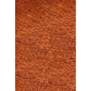 Handmade Posh Orange Shag Rug (2' x 3')