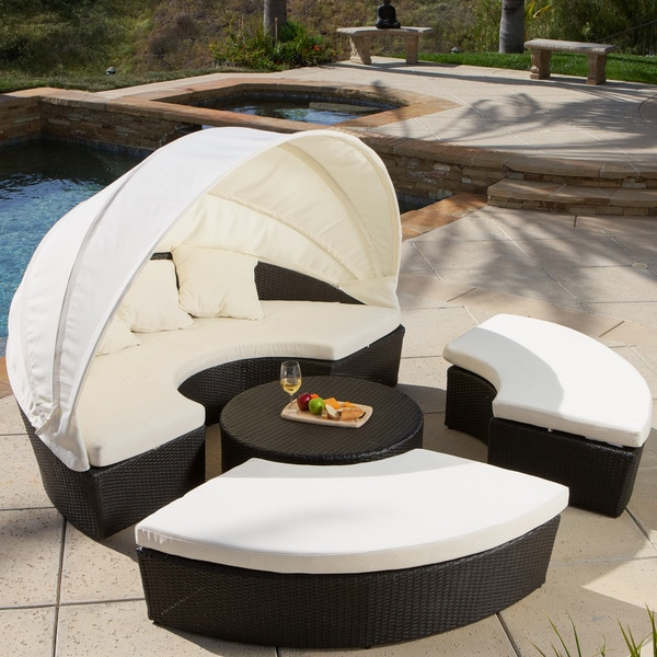 La Mesa 4 Piece Cabana/ Canopy Set By Christopher Knight Home   Free  Shipping Today   Overstock.com   15257052