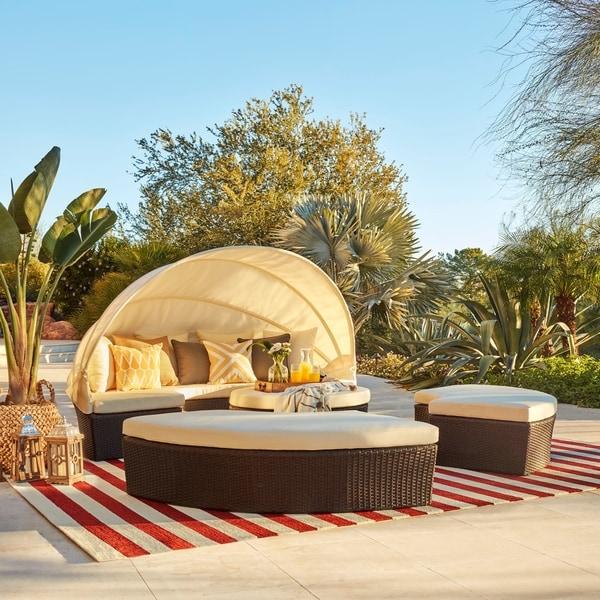 La Mesa 4 Piece Cabana/ Canopy Set By Christopher Knight Home
