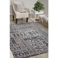 Waverly Sun N' Shade Pattern Destinations Graphite Area Rug by Nourison