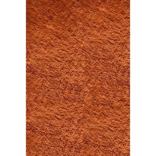 Handmade Posh Orange Shag Rug (3' x 5')