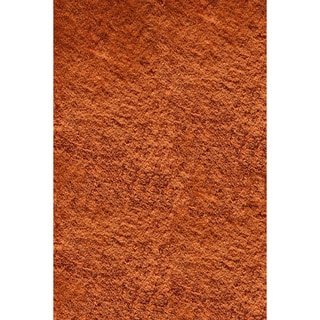 Momeni Luster Shag Tangerine Hand-Tufted Shag Rug (3' X 5')