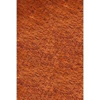 Momeni Luster Shag Tangerine Hand-Tufted Shag Rug - 3' x 5'