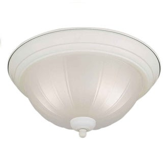 Fluorescent Kitchen Light Fixture With Frosted Glass